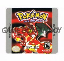 Pokemon Red Gameboy Replacement Label Sticker Precut Glossy Laminated USA decal