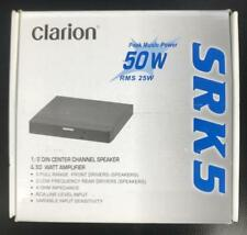 Clarion SRK5 1/2 DIN CENTER CHANNEL SPEAKER WITH AMPLIFIER 50 WATTS 4 OHMS NEW