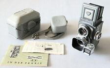 Rollei Rolleiflex 4x4 baby vintage TLR +Schneider 60mm lens 3.5F +Rolleilux Top!