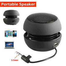 Portable Mini 3.5mm Wired Speaker Hamburger Sound Subwoofer for Phone Tablet PC
