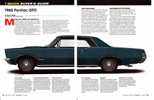 1965 PONTIAC GTO ~ GREAT 6-PAGE BUYERS GUIDE ARTICLE / AD