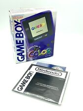 Nintendo Gameboy Colour - BOX & MANUALS ONLY - purple - Mint condition