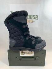 Columbia Sz 11 Ice Maiden II Black Waterproof Shearling Top Suede Winter Boots