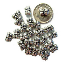50 Antiqued Silver Plated Pewter Butterfly Beads 9MM