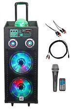 "NYC Acoustics Dual 10"" Karaoke Machine/System 4 ipad/iphone/Android/Laptop/TV"