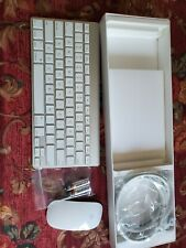 Apple Wireless Bluetooth Magic Mouse 1 and Keyboard Combo Set A1296 A1314 White