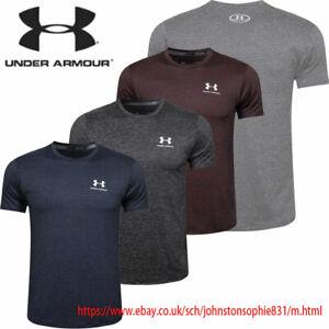 NEW Men's Under Armour short sleeve Heat Gear t-shirt RUNNING TRAINING GYM SPORT