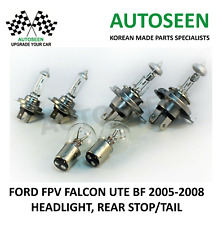 For FORD FPV FALCON UTE BF '05-08' 2xH7 HEADLIGHT / 2xH4 / 2xS25 STOP,TAIL