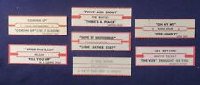 Lot of 7 Jukebox Tags 45 Rpm Title Strips The Beatles Ringo Paul #7-2