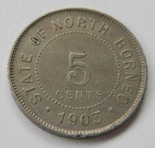NORTH-BORNEO: Britische Kolonie 5 Cents 1903, vorzüglich, SELTEN !!!