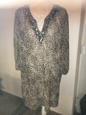 Marks N Spencer Tunic Leopard Print Size20