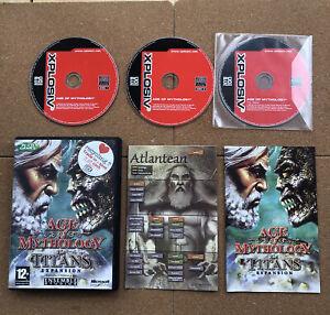 Age Of Mythology The Titans Expansion PC XPL Includes base AGE OF MYTHOLOGY game