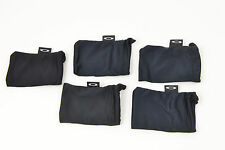 Lot of 5 SMALL BLACK LENS Oakley Microfiber Cleaning bag/case for Extra Lenses