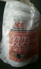 "(NEW) Ace Vinyl Duct 47458 w/Clamps 4"" Diam 8' Long"