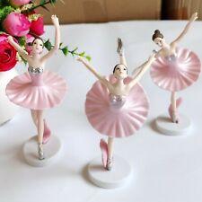 3× 14cm Ballet Girls Dancers Figures Figurine Desk Home Garden Cake Ornament Toy