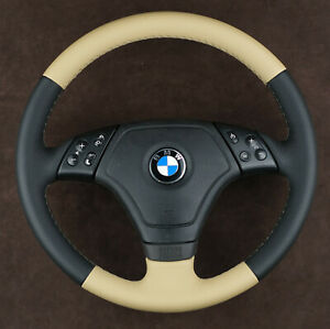 OEM BMW custom steering wheel bi color new leather thick soft E46 3-series 98-01