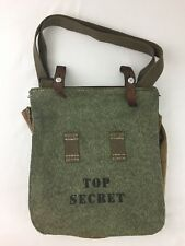 Canvas Messenger Top Secret Handbag Shoulder Purse Satchel Crossbody Tote Bag