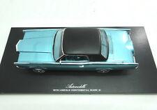 """1970 Lincoln Continental Mark III """"Barn Find"""" Aqua 1:24 Automodello ONE24 24L030"""