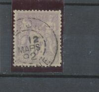 SAGE N°95 5f violet s lilas CAD cercle tirets C.90€ TB B2031