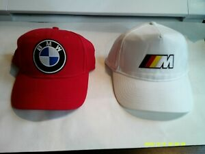 BMW Logo & Racing Baseball Red/White Hat Mens-NEW