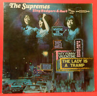 THE SUPREMES SING RODGERS & HART LP 1967 GERMANY GREAT CONDITION! VG++/VG+!!