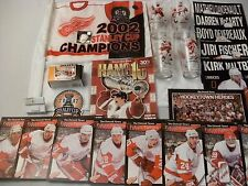 2002 Detroit Red Wings Stanley Cup Champions Hockey Memorbillia