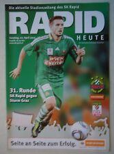 Fußball, international Mannschaftskarte Rapid Wien 2009