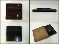 Japanese Wooden Obon Tray Vintage Plate Wajima Lacquer Ware Brown Square F173