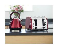Red Legacy Kettle and Toaster Russell Hobbs Vintage Kettle & 4 Slice Toaster New