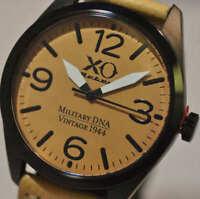 New Mens XO RETRO P-51 Mustang Vintage WWII Military Beige DNA Beige Sport Watch