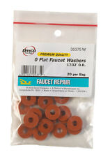 Danco  0 trade size 17/32  Synthetic Rubber  Washer  20 pk