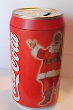 Classic Red Coca Cola Can Bank With Coke Santa in Good Condition.