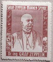 Erinnofilia Vignette Germania - Sottoscrizione Zeppelin - Ritratto Graf Zeppelin