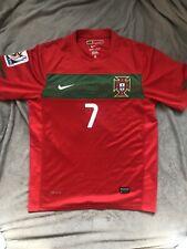 Cristiano Ronaldo Portugal Soccer Nike Jersey #7 2010 World Cup Patch RARE