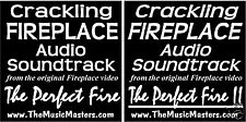 (2) Fireplace Crackling Audio Soundtrack CD's! Fire 1,2
