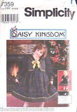 "Daisy Kingdom Dress Size 8-14 + 17"" Doll Pattern 7359"