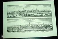 Paderborn Soest: alte Ansicht Merian Druck Stich 1650 Städteansicht Westfalen