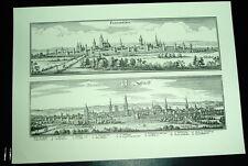 Paderborn Soest: alte Ansicht Merian Druck Stich 1650