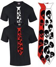 T-shirt corbata Skull punk rock emo Gothic calavera tatuaje tie