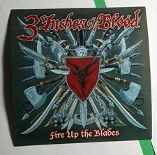 THREE 3 INCHES OF BLOOD FIRE UP THE BLADES SHIELD KNIVES SWORD MUSIC STICKER