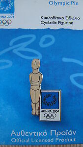 CYCLADIC FIGURINE - OBJECT OF ANCIENT GREECE - ATHENS 2004 OLYMPIC PIN