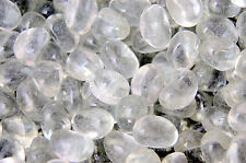 100 Clear Glass Pebbles Stones Nuggarts Decoration Vase Wedding Tank 485g NEW UC