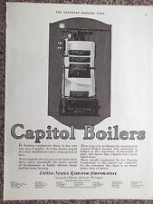 Original 1923 Capitol Boilers Winchester Model US Radiator Corp. Advertisement