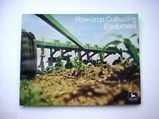 2  1972 Large John Deere Row Crop Cultivating & Field Finishing Brochures