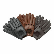 Mens Leather soft Lambskin Driving Gloves Retro style Comfort Chauffeur Fashion
