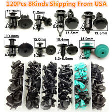 120Pcs Assorted Car Fastener Clips Trim Moulding Push Pin Rivet Retainer From US