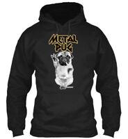 Metal Pug - Gildan Hoodie Sweatshirt