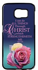 Christian Bible Verse Rose Case For Samsung Galaxy & Note Rubber TPU /Hard Cover