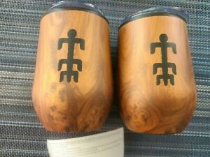faux wood hot/cold mugs with sippy lid
