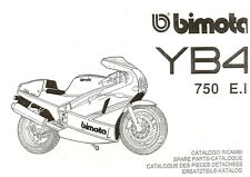 CATALOGO RICAMBI BIMOTA YB4 750 E.I COPY SPARE PARTS CATALOGUE MULTILANGUAGES